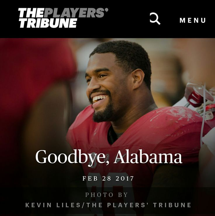"Jonathan Allen says ""Goodbye, Alabama"" - The Players' Tribune #Alabama #RollTide #Bama #BuiltByBama #RTR #CrimsonTide #RammerJammer"