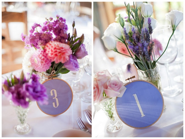 DIY Embroidery Hoop Table Numbers full tutorial from oh lovely day