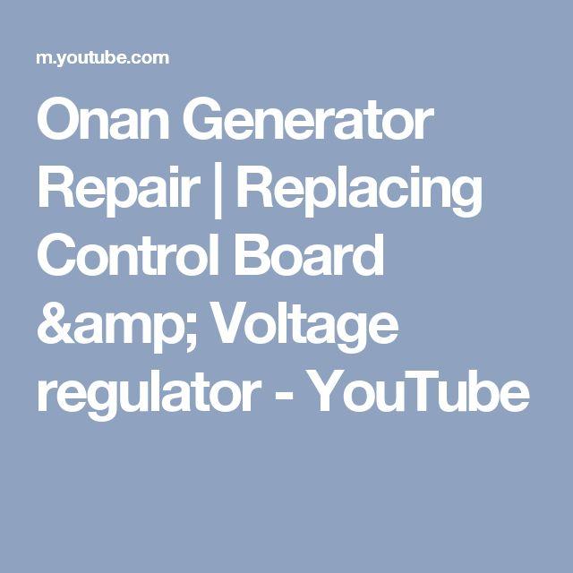 Onan Generator Repair | Replacing Control Board & Voltage regulator - YouTube
