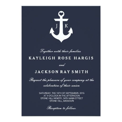 anchor wedding invitations 17 best images about nautical wedding invitations on 1298