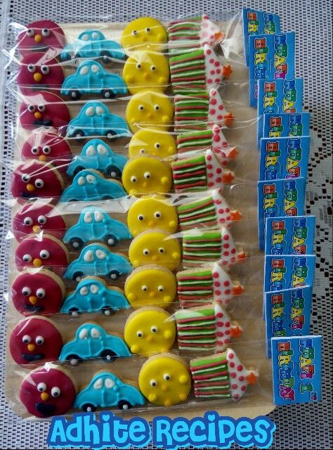 Birthday cookies for boy   It's so colourful........ Love it