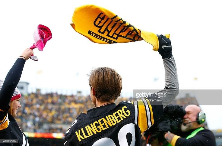 Megan Klingenberg of the United States National Soccer team waves a Terrible Towel before the start of the game between the Pittsburgh Steelers and Arizona Cardinals at Heinz Field on October 18, 2015 in Pittsburgh, Pennsylvania.