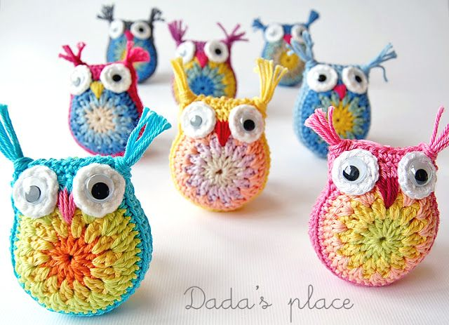 Dada's place: Little crochet owls I cute overloaded on this when I saw it...
