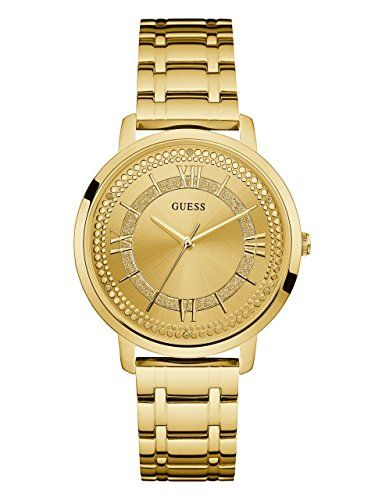 GUESS Womens Quartz Stainless Steel Casual Watch ColorGoldToned Model U0933L2 **...