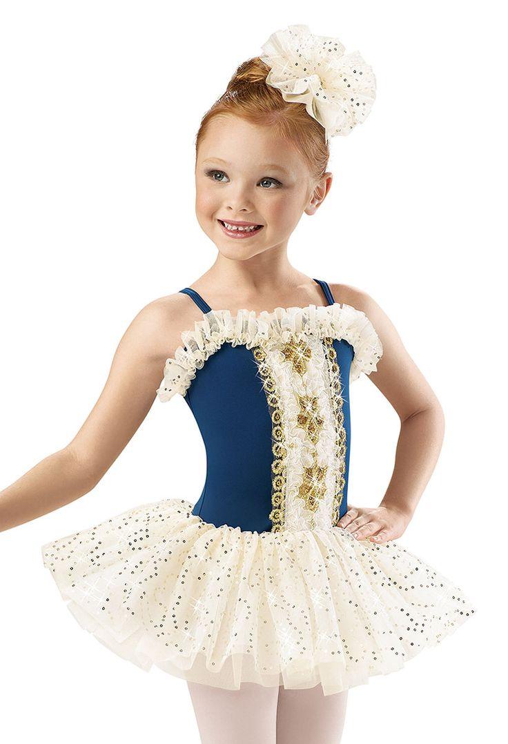 Girls' Gold Ribbon Royal Dress; Weissman Costumes
