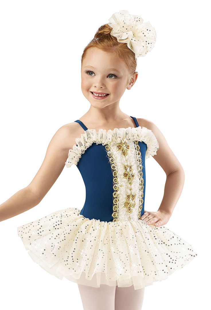 Girls' Gold Ribbon Royal Dress; Weissman Costumes