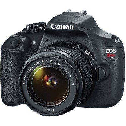 Amazon.com : Canon EOS Rebel T5 18MP EF-S Digital SLR Camera USA warranty with canon EF-S 18-55mm f/3.5-5.6 IS II Zoom Lens & EF 75-300mm f/4-5.6 III Telephoto Zoom Lens + 58mm Telephoto Lens + 58mm Wide Angle Lens + Slave Flash + Spare Battery + UV Filter Kit with 48GB Complete Deluxe Accessory Bundle : Camera & Photo