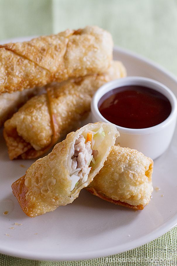 Easy Egg Rolls on www.tasteandtellblog.com