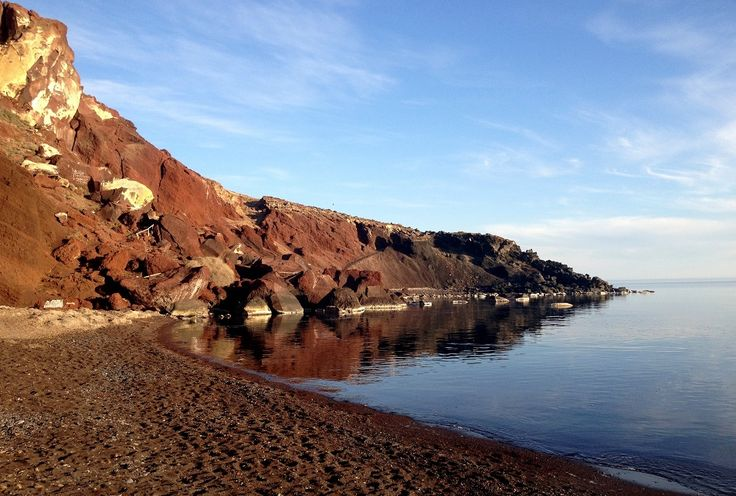 Near the ancient site of Akrotiri, Red Beach is the most famous of Santorini's beaches...