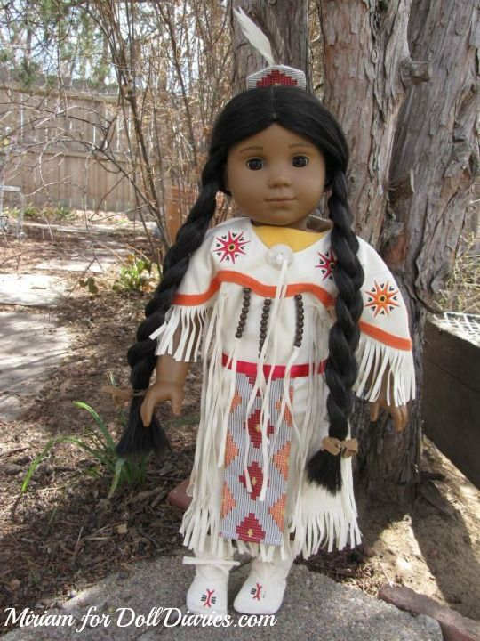 American Girl Kaya in her retired Pow Wow Dress of Today, photo by Miriam