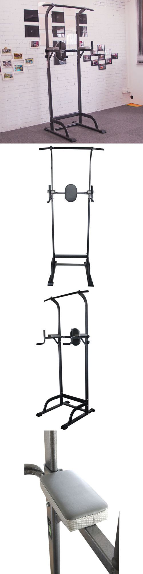 Pull Up Bars 179816: New Deluxe Power Tower Chin Up Station Knee Dip Push Up Pull Up Raise Gym -> BUY IT NOW ONLY: $99 on eBay!