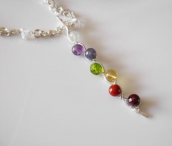 Kundalini Balancing and aligning energy chakras sterling silver Necklace. A beautiful New Age gift $ 90. At https://www.etsy.com/ca/listing/208989533/kundalini-balancing-and-aligning-energy?ref=listing-shop-header-3