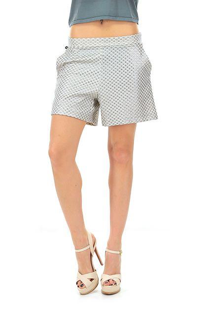 MANILA GRACE - Pantaloni - Abbigliamento - Shorts in cotone con tasche laterali, a vita alta.La nostra modella indossa la taglia /EU 40. - MG999 - € 154.00