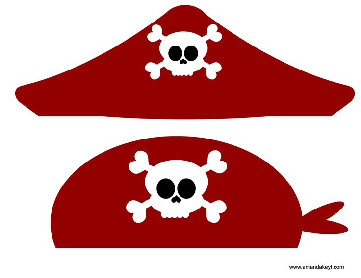 Pirate Hat Printable Booth - Worksheet  Coloring Pages