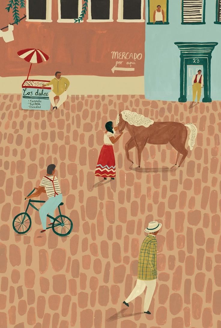 Mexican Street scene by Naomi Wilkinson