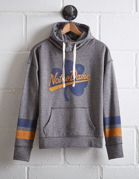 Tailgate Women's Notre Dame Cowl Neck Hoodie