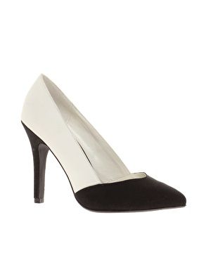 New Look Rono Colourblock Pointed Court Shoes