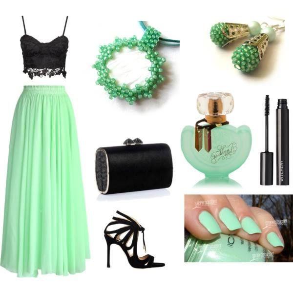 Ako éterická víla v mentolovej :). Outfit od Šperky Salina & Natalyss