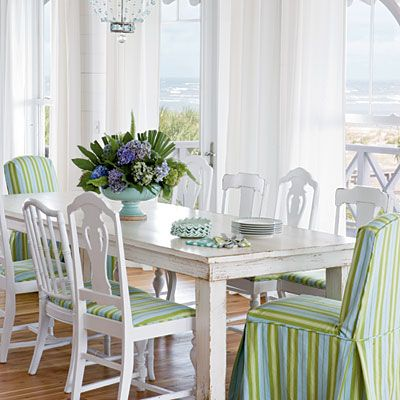 81 best images about beachy dining room on pinterest ina for Nautical kitchen table