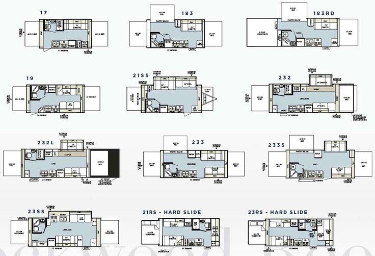 Rockwood Tent Campers Floor Plans