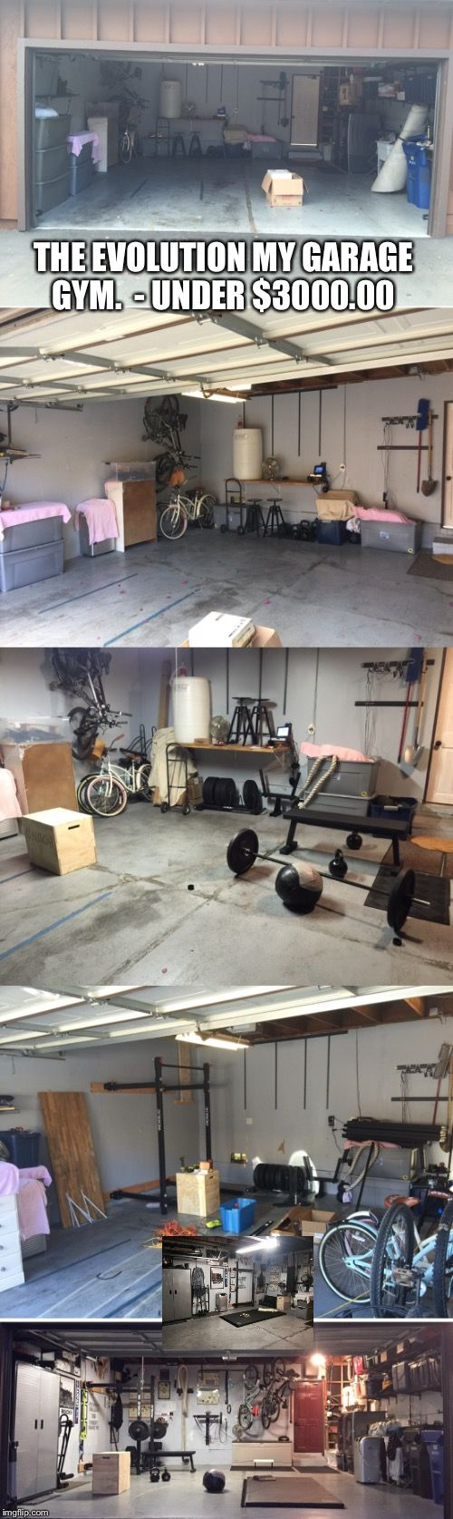Crossfit garage gym (rogue fitness)