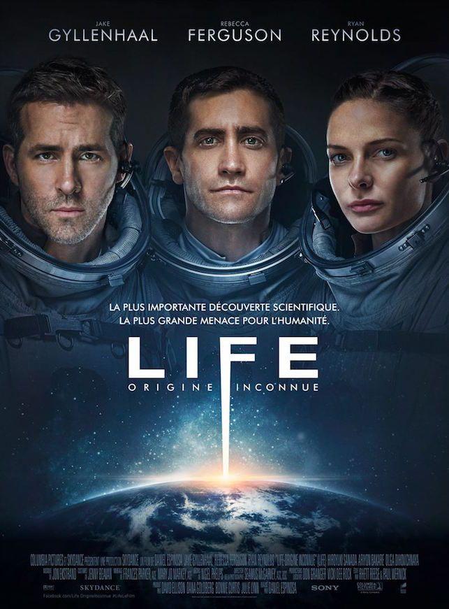 Critique de Life, origine inconnue en salles depuis le 19 avril avec Jake Gyllenhaal, Ryan Reynolds, Rebecca Ferguson