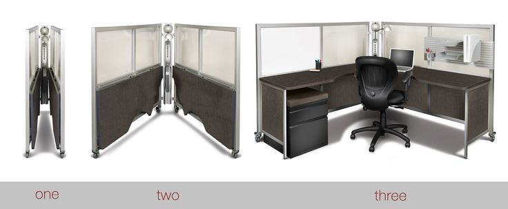 In three steps you can have a completely fully furnished workspace.
