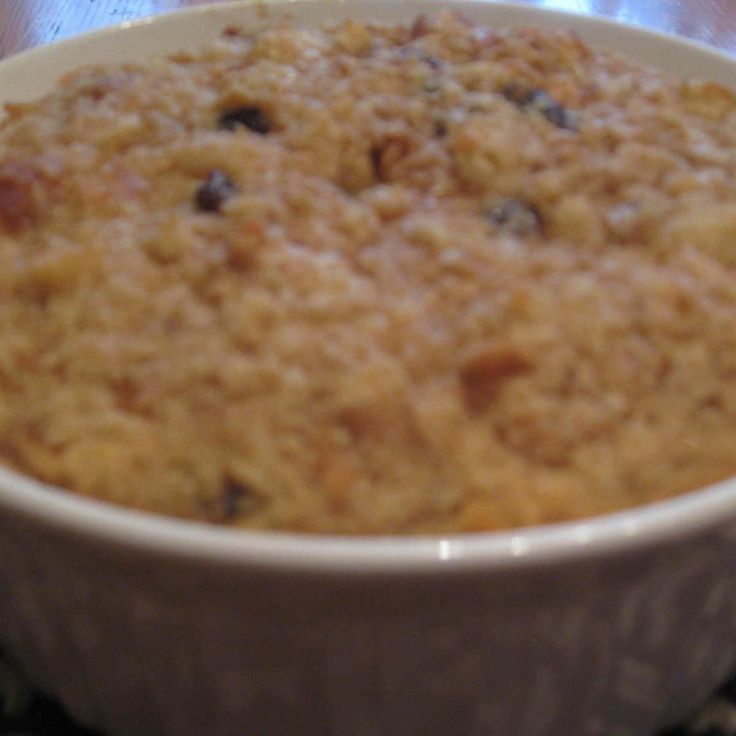 This recipe was given to me by a friend at Church. An old fashioned biscuit pudding with vanilla, eggs, and milk. For extra flavor, add a little cinnamon, nutmeg and some raisins to this biscuit pudding.