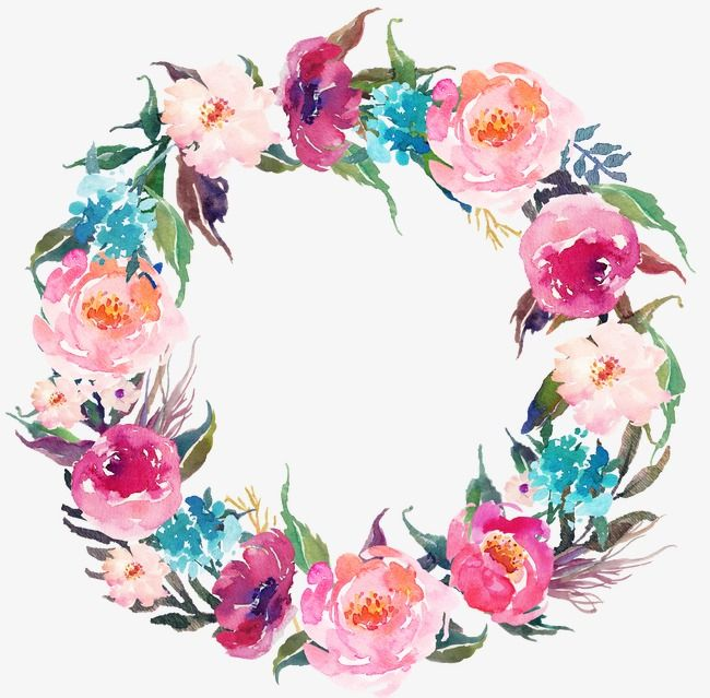 Drawing Circular Wreath 21 Watercolor Round Flower Png Transparent Clipart Image And Psd File For Free Download Floral Wreath Drawing Floral Wreath Watercolor Flower Drawing