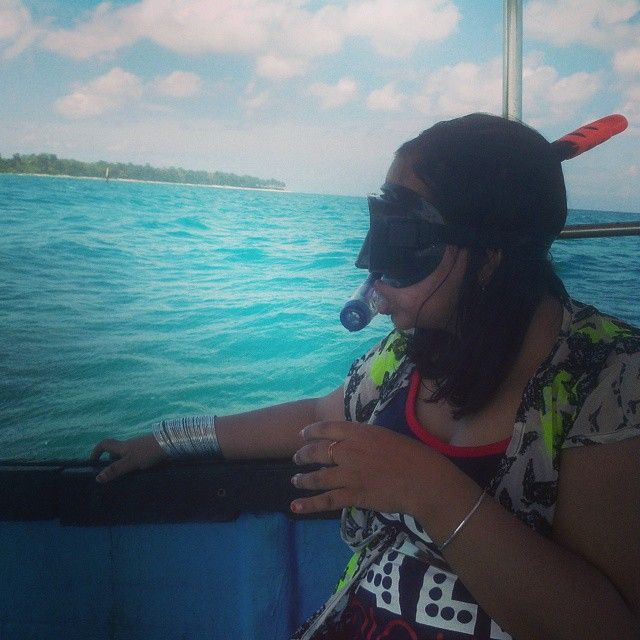 My wife getting ready for a snorkeling session at Bharatpur beach @ Neil Island , Andamans
