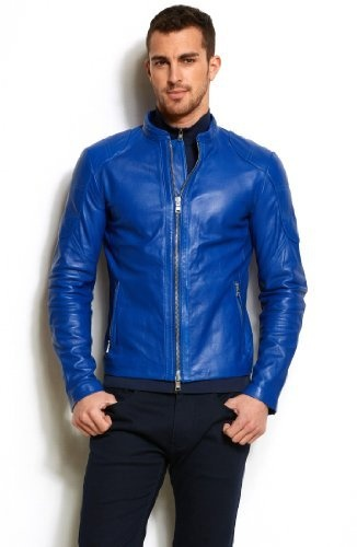 Armani Exchange Pop Color Leather Moto Jacket Ax Armani Exchange