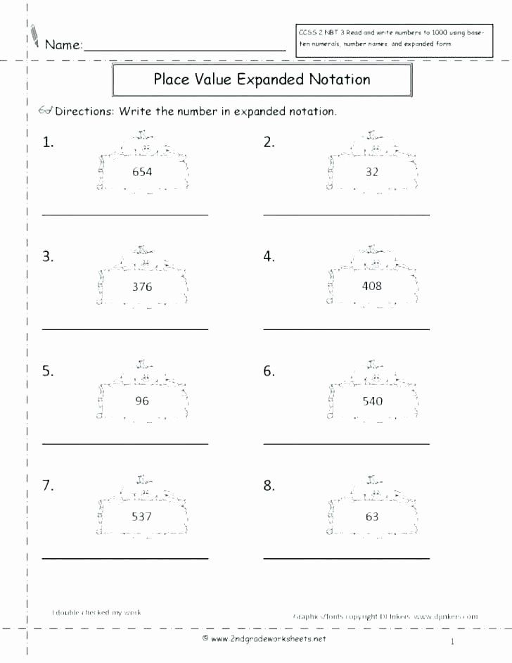 Expanded Notation Worksheets 3rd Grade Expanded form ...