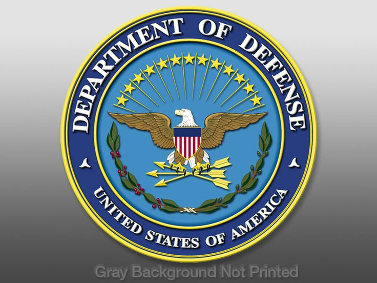 Department of Defense seal for podium at press conference