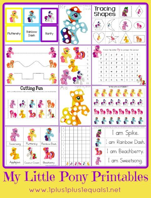 my little pony printable pack educational my little pony printable little pony birthday. Black Bedroom Furniture Sets. Home Design Ideas