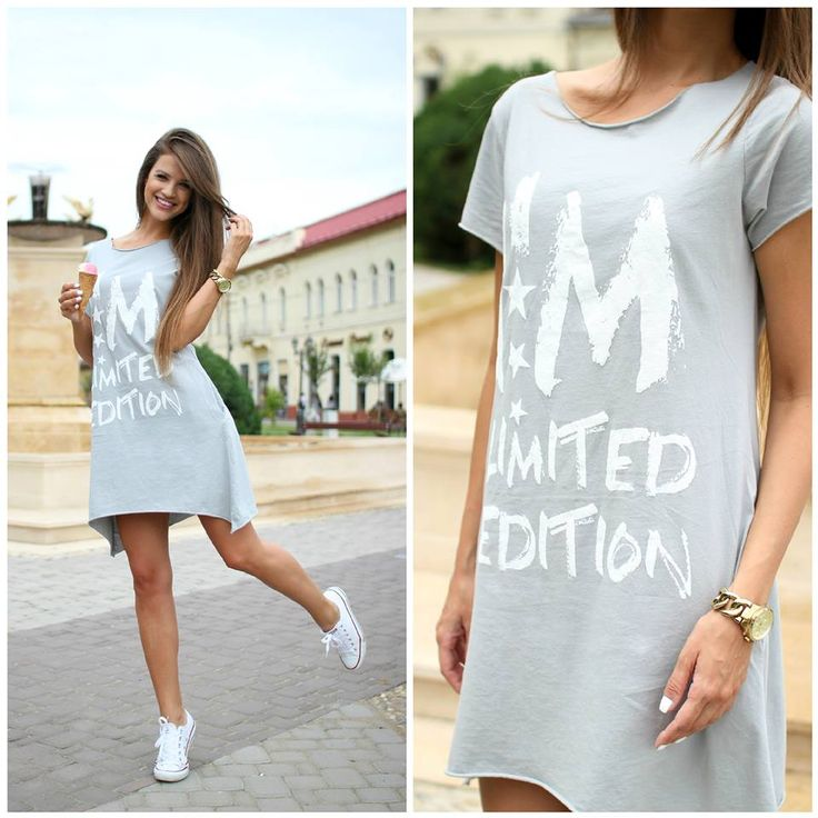 Sport t-shirt #dress at www.famevogue.ro..:)  #fashion #ootd #casual #style