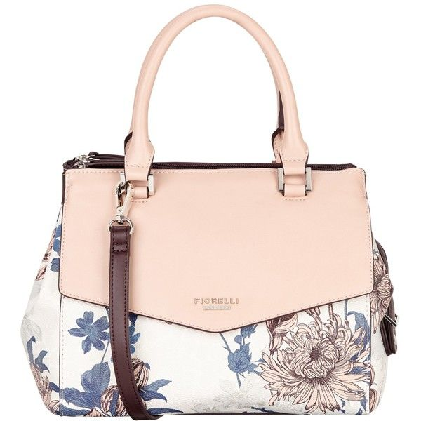 Fiorelli Mia Grab Bag , Rose Floral (£69) ❤ liked on Polyvore featuring bags, handbags, rose floral, handbags crossbody, faux leather purses, man bag, crossbody purse and pink purse