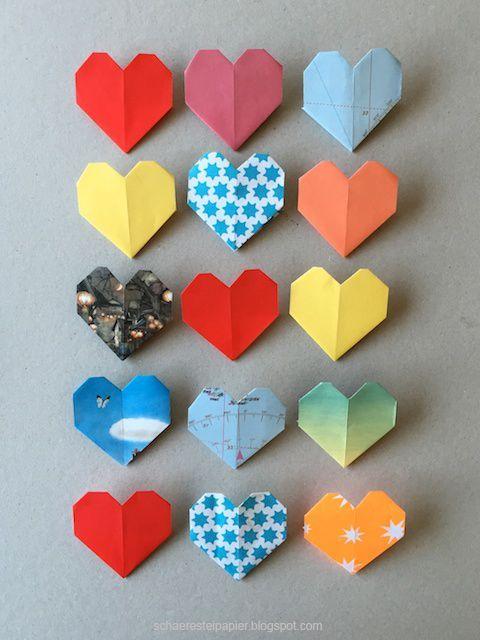 Ein Herz für Bücher - Origami-Buchzeichen