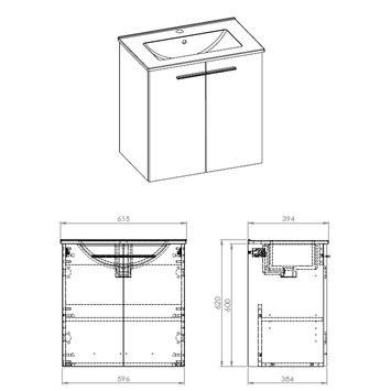 Handson badkamermeubel 60 cm hout   Badkamermeubelen   Badkamer   Sanitair   GAMMA