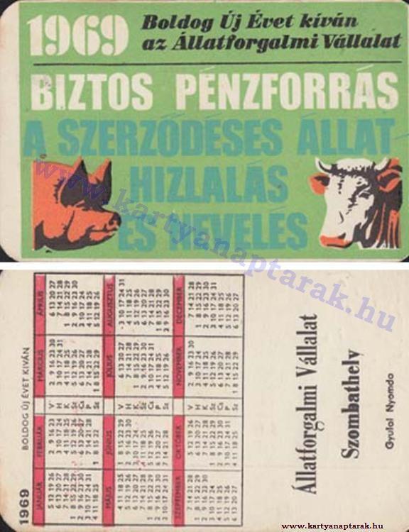 1969 - 1969_0310 - Régi magyar kártyanaptárak