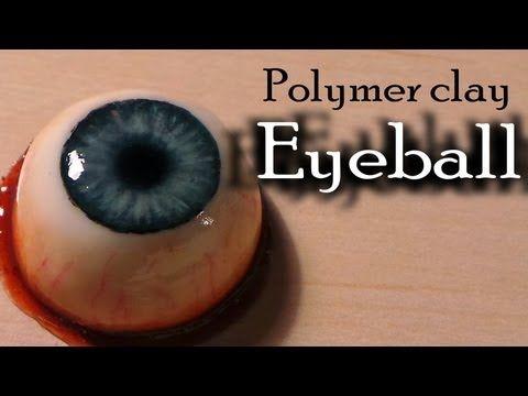 Halloween; Polymer clay eyeball (bloody eye ring) - YouTube