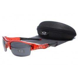 Oakley Flak Jacket óculos Red Quadro lente preta