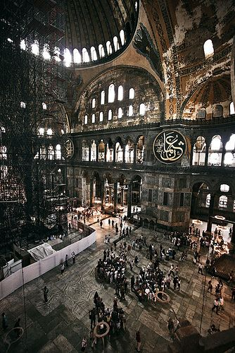 Hagia Sophia is a great architectural beauty and an important monument both for Byzantine and for Ottoman Empires. Once a church, later a mosque, and now a museum at the Turkish Republic, Hagia Sophia has always been the precious of its time.  Istanbul, Turkey
