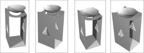 Für Alle, die draussen rauchen müssen - Aschenbecher aus Metall für die IG Metall