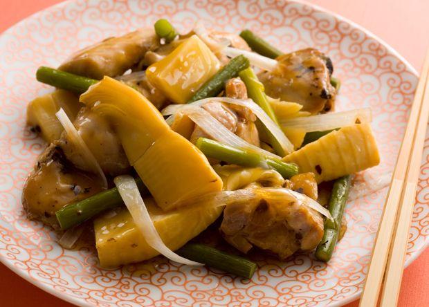 鶏肉とにんにくの芽の豆鼓蒸し (レシピNo.1850)|ネスレ バランスレシピ  http://p.nestle.jp/pint_recipe/