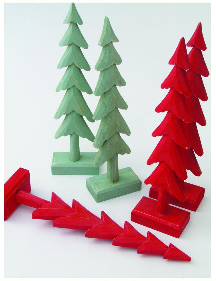 Árbol pino rojo, ärbol pino verde #christmasTree #Christmas #pehache #deco #navidad