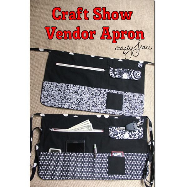 If you've ever sold at a craft fair or flea market, then you know the importance of keeping your money close and easily accessible.  Staci from Crafty Staci shows how you can make her Craft Show Ve...