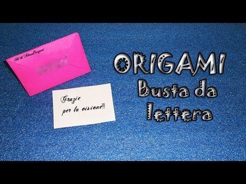 Origami tutorial, busta da lettera per biglietto, invito, partecipazione nozze - envelope - YouTube