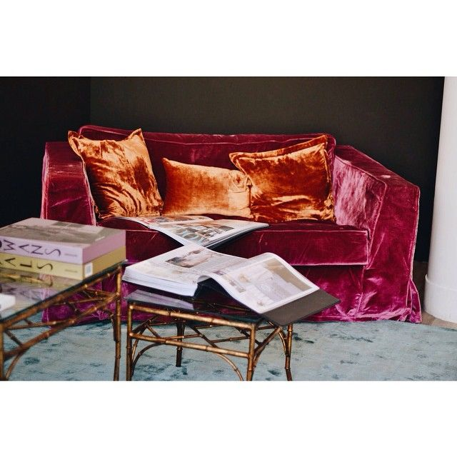 Superb Sara Kate Studios | Inspiration. Velvet CouchPink ...