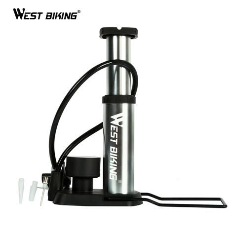 Ultra-light Bicycle Portable Pump Cycling Pump With Barometer MTB Road Bike Outdoor Sports High Pressure Pedal Pump