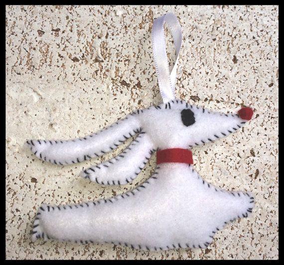 Nightmare before Christmas Zero Ghost Dog Ornament Christmas